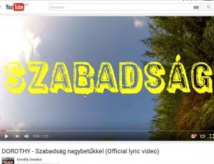 Szabadság a hátsó kertben – új lyric videó!